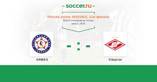 КАМАЗ - Спартак М  смотреть онлайн бесплатно 25 сентября 2019 прямая трансляция в 18:30 МСК.