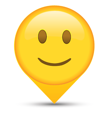 Smile Smiley Map Marker