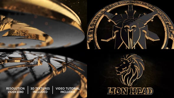 Gold Black And Shine Logo Reveal[Videohive][After Effects][28498726]