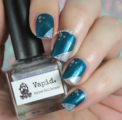 Super Simple Nail Art | Blue-Eyed Girl Lacquer + Vapid Lacquer