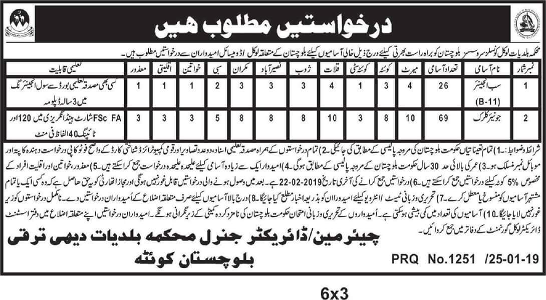 Jobs in department of municipalities local councils services