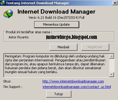 Internet Download manager 6.21 Build 16 update terbaru