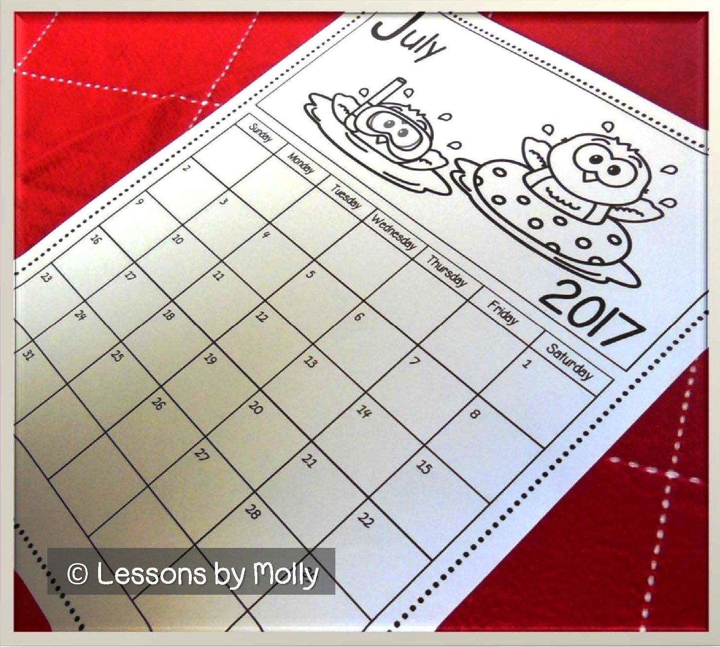 Calendar Q : Lessons by molly free school calendar