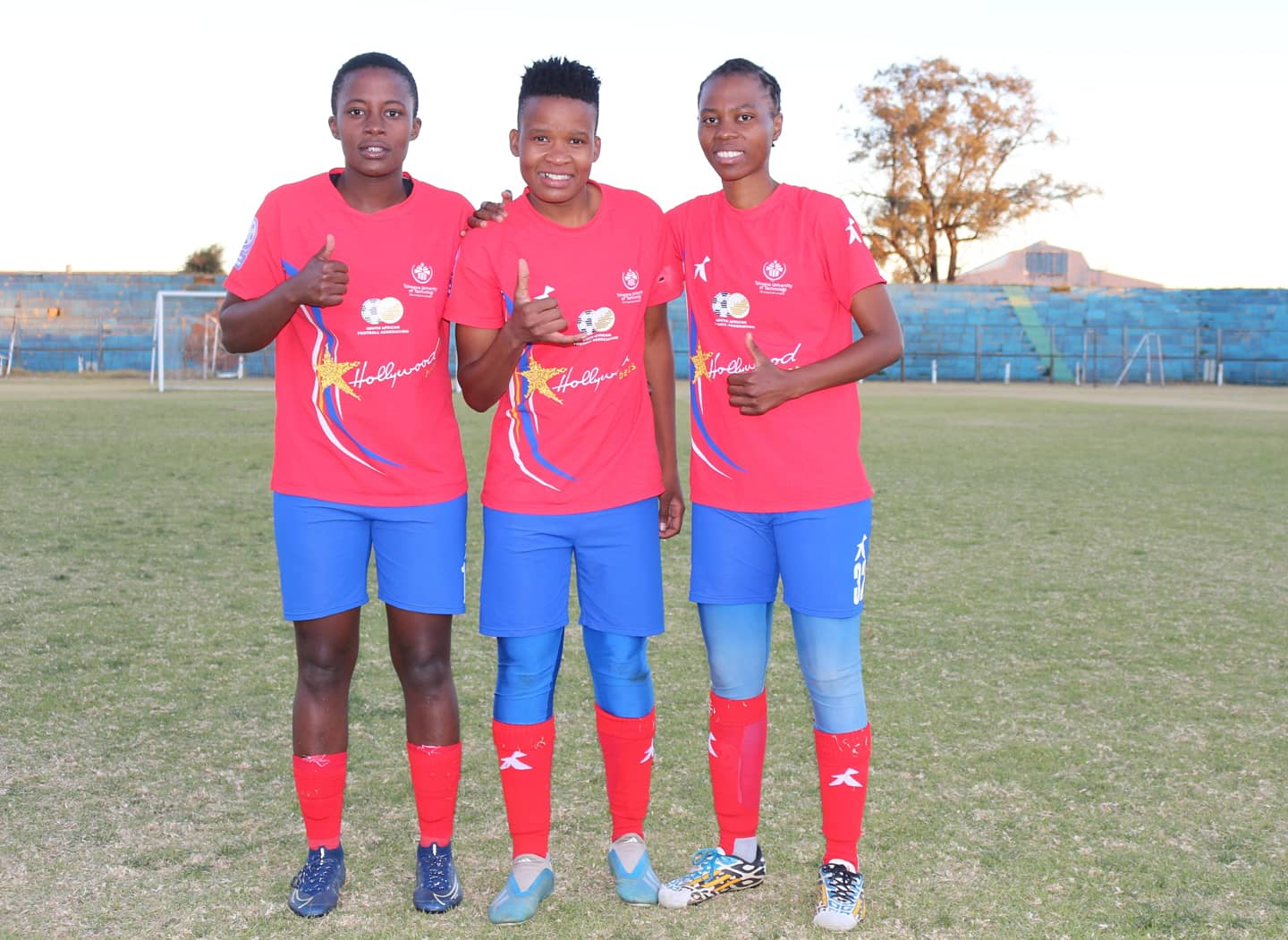TUT Ladies celebrate after their 3-0 win over Coal City Wizards