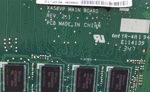 X450VP REV 2.1 Nvidia ASUS Laptop Bios
