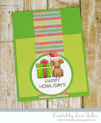 Happy Howlidays card-designed by Lori Tecler/Inking Aloud-stamps and dies from Lawn Fawn