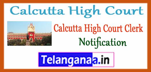 Calcutta High Court Clerk Notification Clerk Syllabus 2018