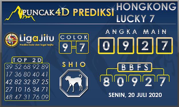 PREDIKSI TOGEL HONGKONG LUCKY 7 PUNCAK4D 20 JULI 2020