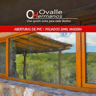 Aberturas de PVC simil madera gran calidad