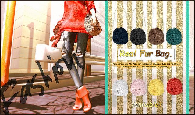 {amiable}Real Fur Bag@ the N°21(50%OFF SALE).