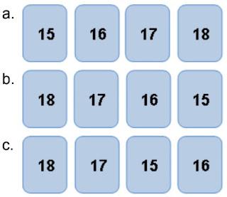 jawaban urutan kartu bilangan