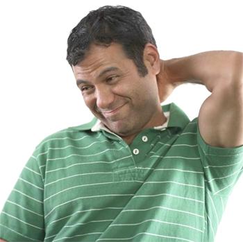 الخدش او الحك في مؤخرة الرأس والعنق - لغة الجسد