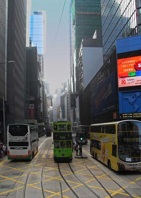 Hong Kong Double Decker Buses