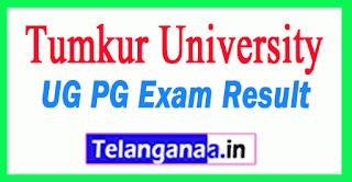 Tumkur University Results 2019 UG PG Results
