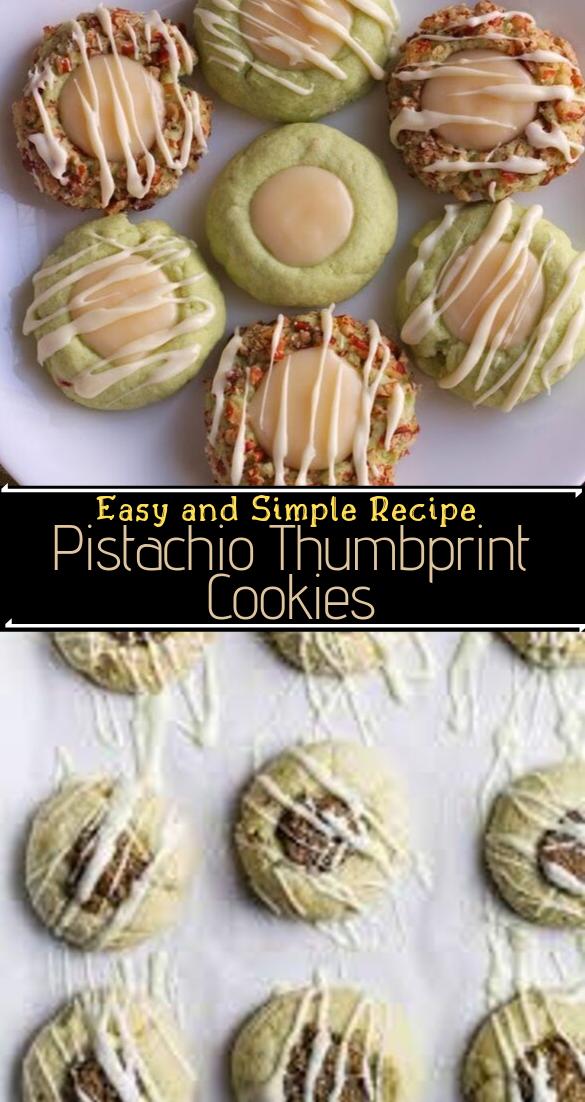 Pistachio Thumbprint Cookies #desserts #cakerecipe #chocolate #fingerfood #easy