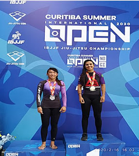 """DANIELE KAORI conquista a prata no "" Curitiba Summer International Open IBJJF Jiu-Jitsu No-Gi Champion ship """