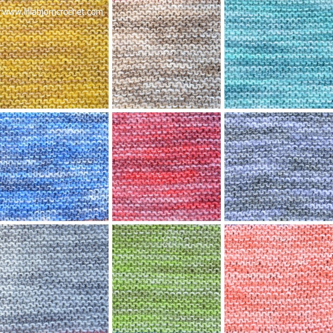 Simple knitted baby blanket with garter stitch. Made with Spirit yarn by Scheepjes. Design by Lilla Brjon Crochet
