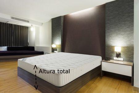 Como elegir el tamaño de funda nórdica, altura de la cama