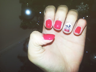 Festive Nails #3 Rudolph the Red Nose Reindeer