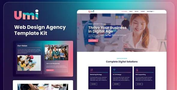 Best Web Design Agency Elementor Template Kit