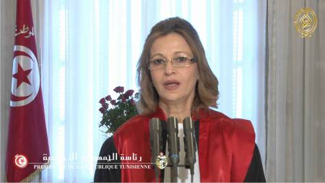La conseillère auprès du président de la République, chargée des affaires juridiques, Raoudha Mechichi