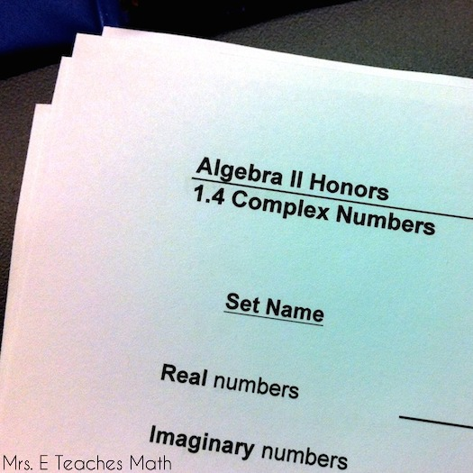 "Complex Numbers and Story Time - using ""story time"" in high school  