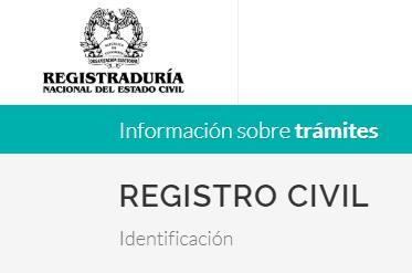 Registro Civil en Colombia