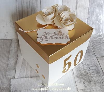 Stempelfix explosionsbox zum geburtstag jugendweihe und goldene hochzeit - Geschenke zur goldenen hochzeit der eltern ...