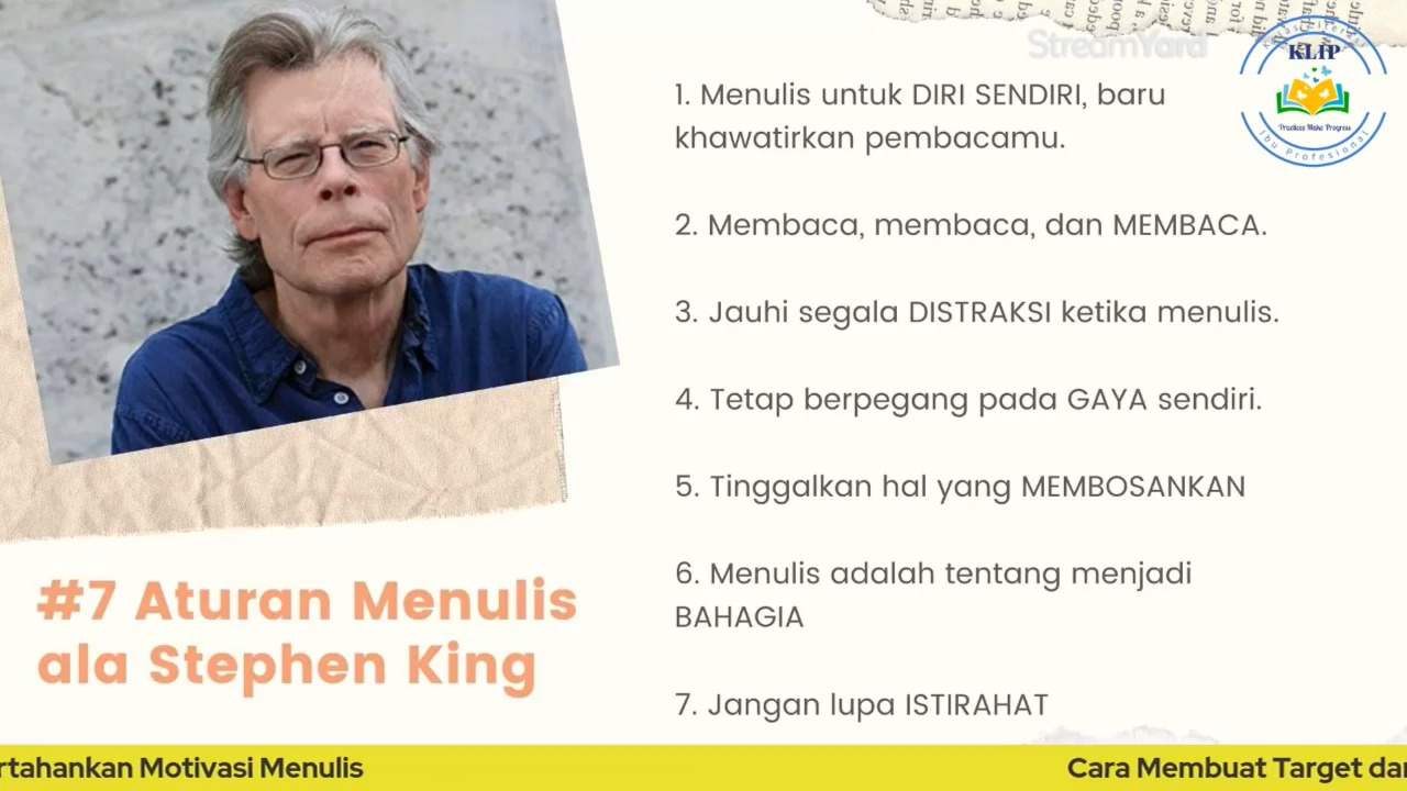 Aturan Menulis Stephen King
