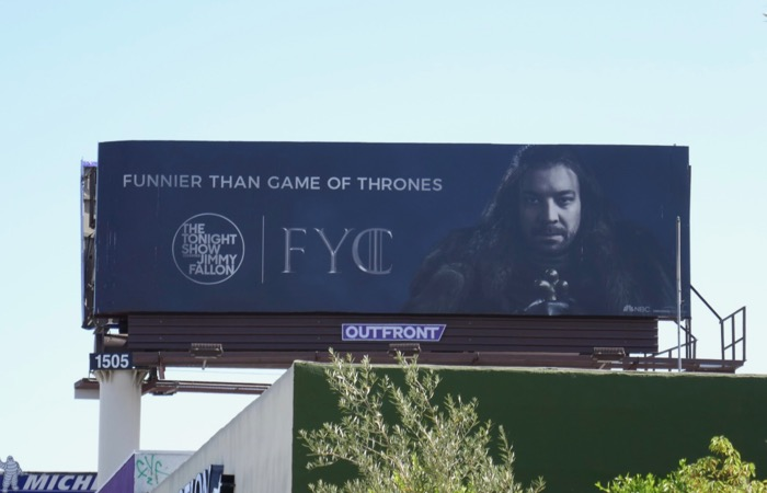 Jimmy Fallon Game of Thrones Emmy FYC billboard