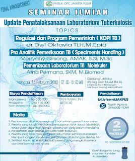 Seminar Ilmiah Update Penatalaksanaan Laboratorium Tuberkulosis | PATELKI DPC Jakarta Pusat
