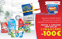 """Concorso """"Henkel e Conad si fanno in 100 per te"""" : vinci card da 100 euro"""