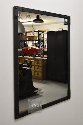 Miroir design industriel sur mesure