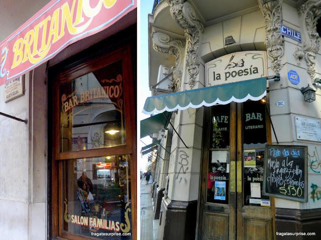 Bar Británico e Café La Poesia, em San Telmo, Buenos Aires