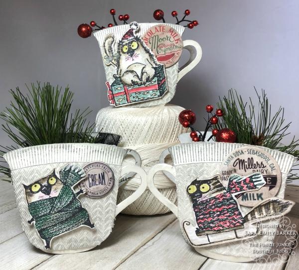 Sara Emily Barker https://sarascloset1.blogspot.com/2020/12/cozy-crazy-tea-cups-for-christmas.html  #eileenhull #3Dteacupandspoon #timholtz #snarkycatchristmas #sizzix #knitted3Dembossing 1