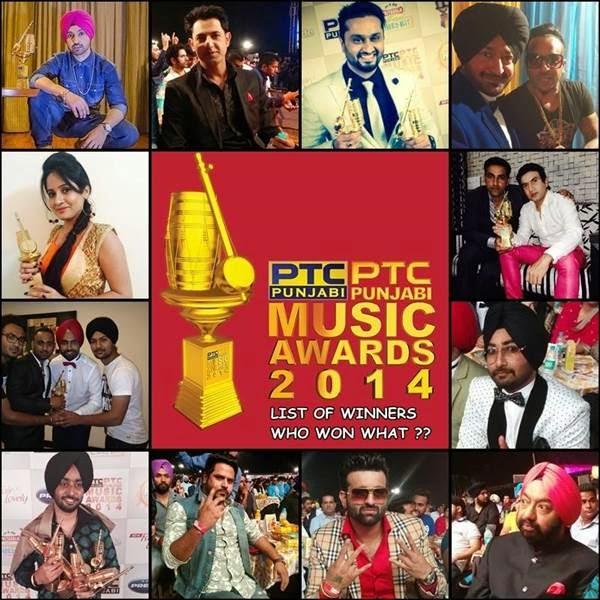 Winners of PTC Punjabi Music Awards 2014