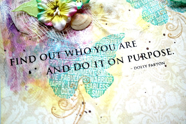 Rubon Dolly Parton Quote on Scrapbook Layout