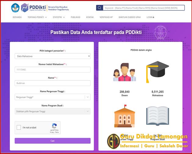 Pastikan Data Ijazah Bapak dan Ibu Guru Terdaftar Pada PDDikti
