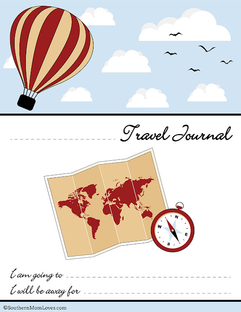 southern mom loves travel journal for kids free printable