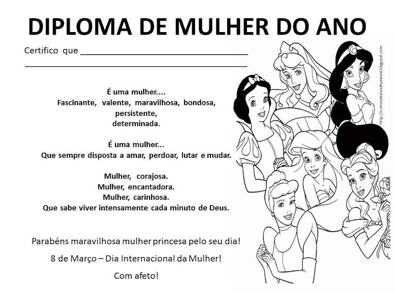 Pérola Girl: Diploma De Mulher Do Ano
