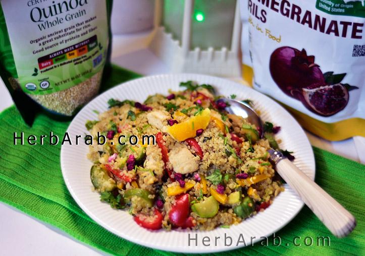 وجبة الكينوا الصحية للرجيم والدايت بالرمان