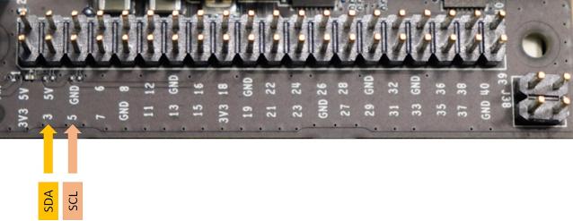 Vị trí kết nối dây SDA và SCL