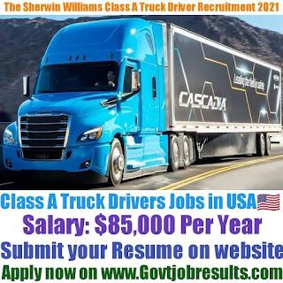 The Sherwin Williams Company Class A Truck Driver Recruitment 2021-22