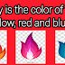 Why is the colour of fire yellow, red and blue?