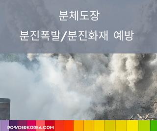 [분체도장 적용] 분체도장에서 발생할 수 있는 분진폭발과 분진화재에 대해서