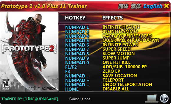 Trainer Cheat Game PC Prototype 2