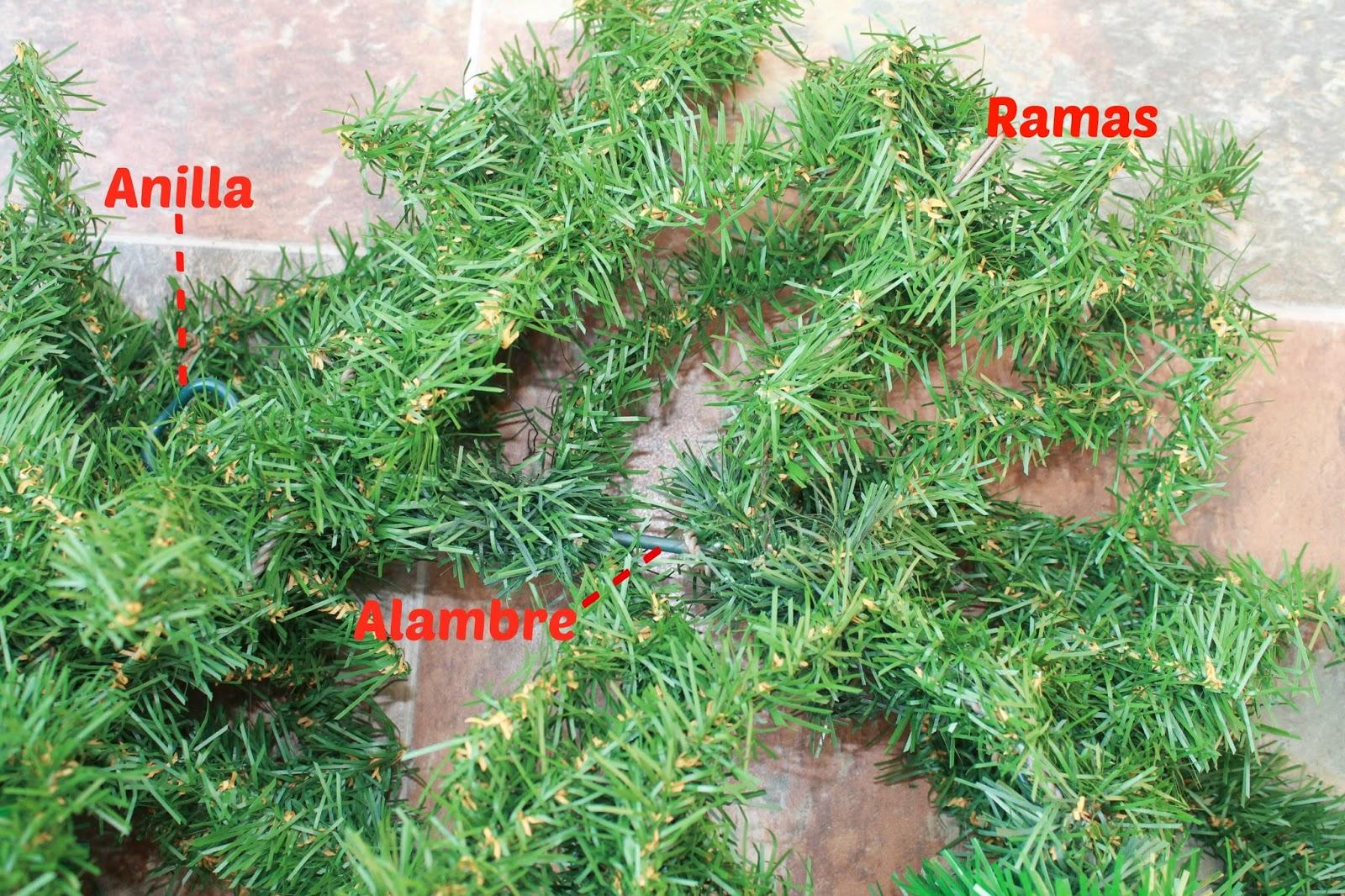 O obradoiro de klor reciclar un rbol de navidad artificial - Arbol artificial de navidad ...