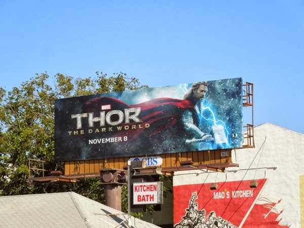 Thor Dark World movie billboard