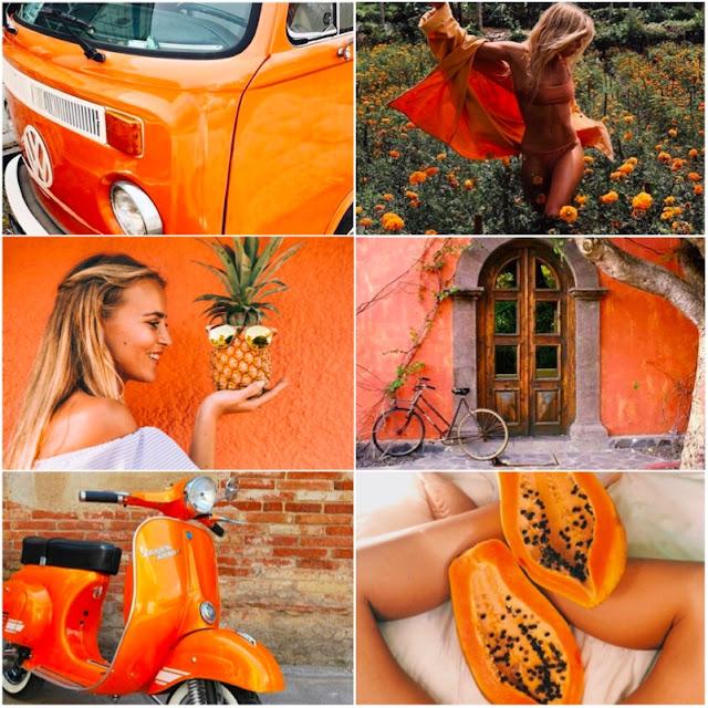 Como ter fotos laranjas