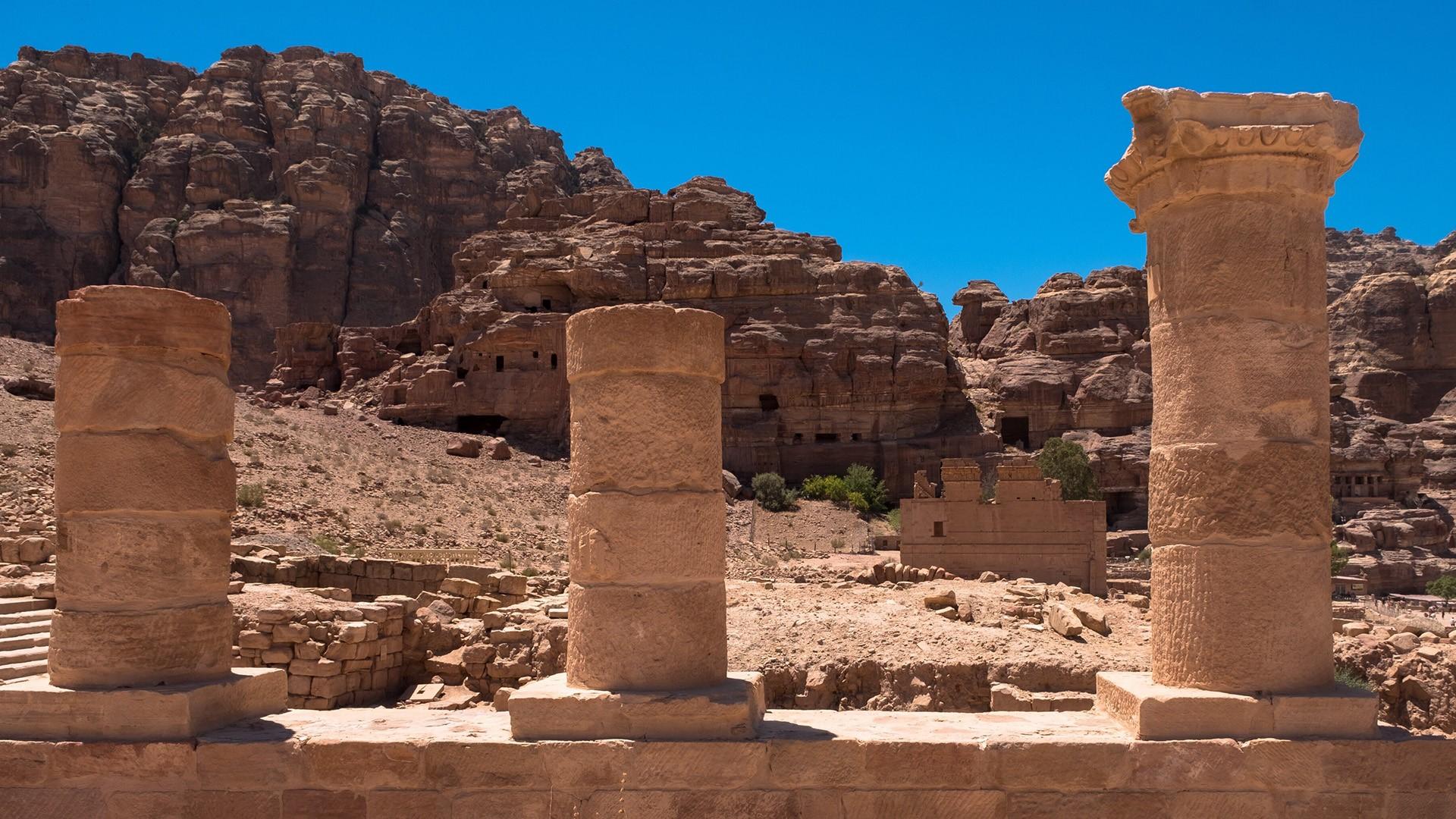 Город Петра в Иордании, развалины